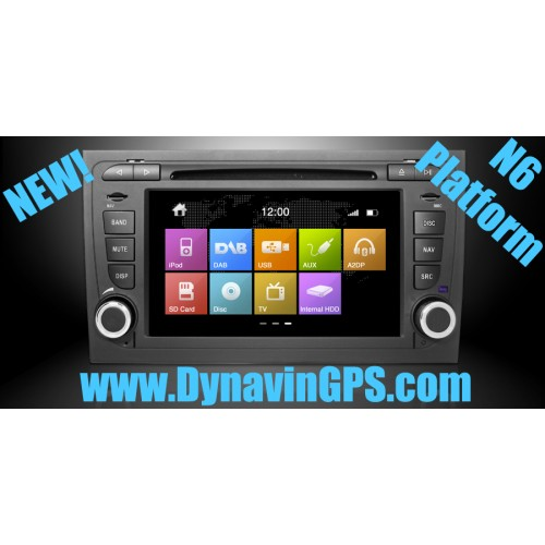 dynavin n6 audi a4 gps navigation unit 2002 2007 b6 b7 n6 a4. Black Bedroom Furniture Sets. Home Design Ideas